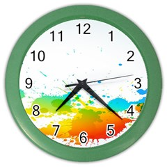 Colorful Abstract Color Wall Clocks