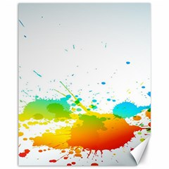 Colorful Abstract Canvas 11  x 14