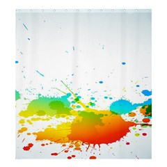Colorful Abstract Shower Curtain 66  X 72  (large)