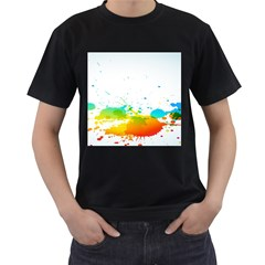 Colorful Abstract Men s T Shirt (black)
