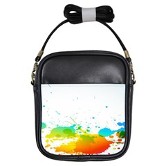 Colorful Abstract Girls Sling Bags
