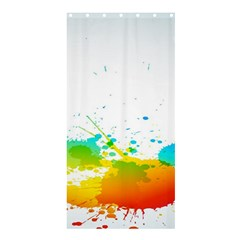 Colorful Abstract Shower Curtain 36  X 72  (stall)
