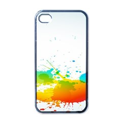 Colorful Abstract Apple Iphone 4 Case (black)