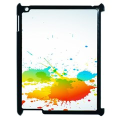 Colorful Abstract Apple iPad 2 Case (Black)