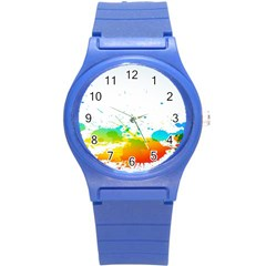 Colorful Abstract Round Plastic Sport Watch (S)