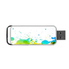 Colorful Abstract Portable USB Flash (One Side)