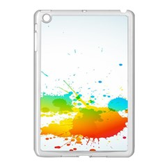 Colorful Abstract Apple Ipad Mini Case (white)