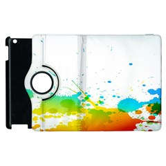 Colorful Abstract Apple iPad 3/4 Flip 360 Case
