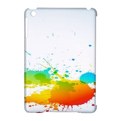 Colorful Abstract Apple iPad Mini Hardshell Case (Compatible with Smart Cover)
