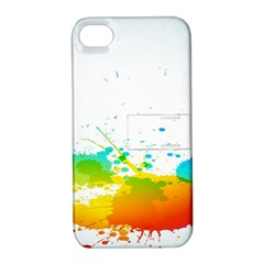 Colorful Abstract Apple iPhone 4/4S Hardshell Case with Stand