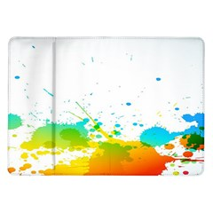 Colorful Abstract Samsung Galaxy Tab 10.1  P7500 Flip Case
