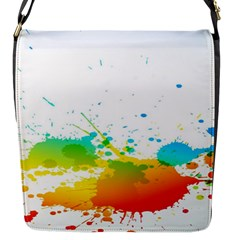 Colorful Abstract Flap Messenger Bag (s)