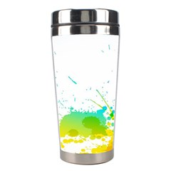 Colorful Abstract Stainless Steel Travel Tumblers