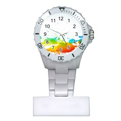 Colorful Abstract Plastic Nurses Watch