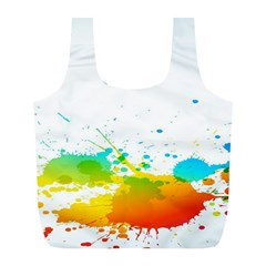 Colorful Abstract Full Print Recycle Bags (l)