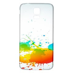 Colorful Abstract Samsung Galaxy S5 Back Case (white)