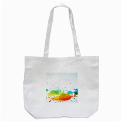 Colorful Abstract Tote Bag (White)