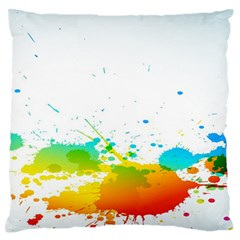Colorful Abstract Large Flano Cushion Case (Two Sides)