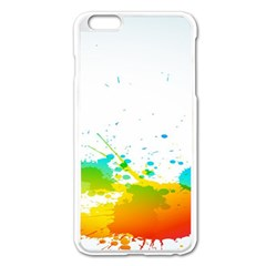 Colorful Abstract Apple Iphone 6 Plus/6s Plus Enamel White Case