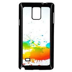 Colorful Abstract Samsung Galaxy Note 4 Case (Black)