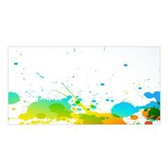 Colorful Abstract Satin Shawl