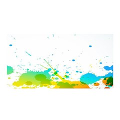 Colorful Abstract Satin Wrap