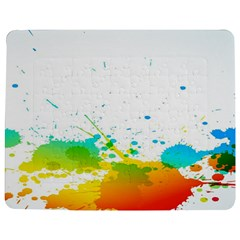 Colorful Abstract Jigsaw Puzzle Photo Stand (rectangular)