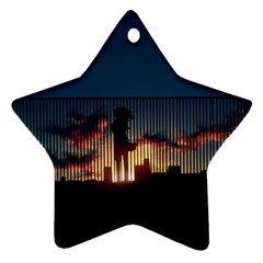 Art Sunset Anime Afternoon Ornament (Star)