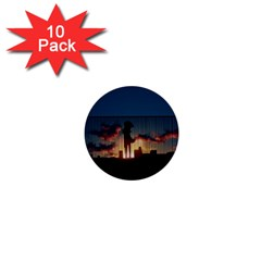 Art Sunset Anime Afternoon 1  Mini Buttons (10 pack)