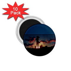Art Sunset Anime Afternoon 1 75  Magnets (10 Pack)