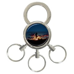 Art Sunset Anime Afternoon 3 Ring Key Chains
