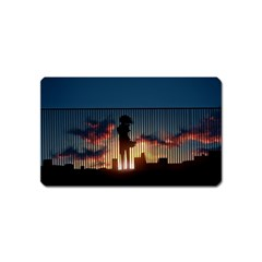 Art Sunset Anime Afternoon Magnet (name Card)