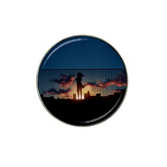 Art Sunset Anime Afternoon Hat Clip Ball Marker (4 pack)