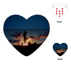 Art Sunset Anime Afternoon Playing Cards (Heart)