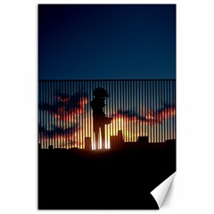 Art Sunset Anime Afternoon Canvas 24  x 36