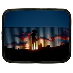 Art Sunset Anime Afternoon Netbook Case (Large)