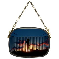 Art Sunset Anime Afternoon Chain Purses (Two Sides)