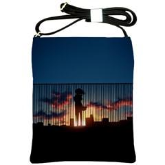 Art Sunset Anime Afternoon Shoulder Sling Bags