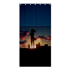 Art Sunset Anime Afternoon Shower Curtain 36  x 72  (Stall)