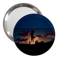 Art Sunset Anime Afternoon 3  Handbag Mirrors