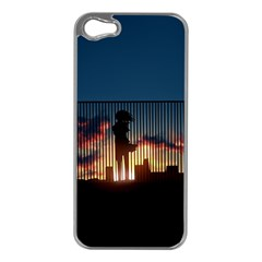 Art Sunset Anime Afternoon Apple iPhone 5 Case (Silver)