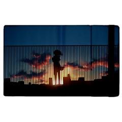 Art Sunset Anime Afternoon Apple Ipad 3/4 Flip Case