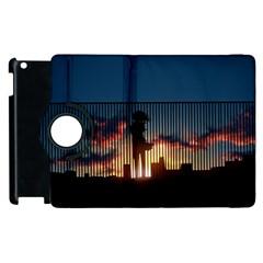 Art Sunset Anime Afternoon Apple Ipad 3/4 Flip 360 Case