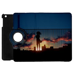Art Sunset Anime Afternoon Apple iPad Mini Flip 360 Case