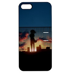 Art Sunset Anime Afternoon Apple iPhone 5 Hardshell Case with Stand