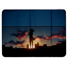 Art Sunset Anime Afternoon Samsung Galaxy Tab 7  P1000 Flip Case