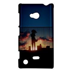 Art Sunset Anime Afternoon Nokia Lumia 720