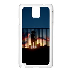 Art Sunset Anime Afternoon Samsung Galaxy Note 3 N9005 Case (White)