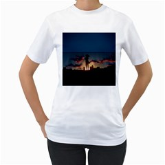 Art Sunset Anime Afternoon Women s T Shirt (white)