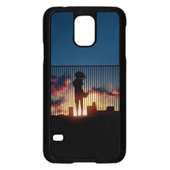 Art Sunset Anime Afternoon Samsung Galaxy S5 Case (black)
